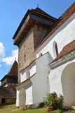 Fortified medieval church in the village Viscri, Transylvania. Stock Images
