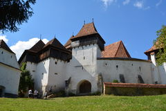 Fortified medieval church in the village Viscri, Transylvania. Stock Photography