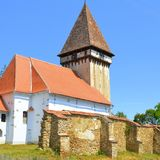 Fortified medieval saxon evangelic church  in Veseud, Zied, Transilvania, Romania. Fortified medieval saxon evangelic church  in Veseud, Zied, is a village in Royalty Free Stock Photography