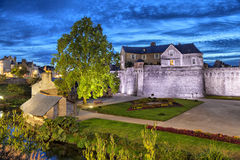 Fortified medieval wall of city Vannes, France Stock Photo