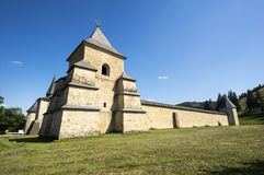 Fortified monastery in Bucovina Royalty Free Stock Photography