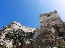 Fortified muslim castle in Andalusia Royalty Free Stock Image