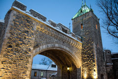 Fortified. This photo was taken in the beautiful Quebec City, Canada. One of my favorite travel destinations. A city filled with beautiful landscapes and Stock Photography