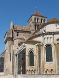 Fortified Saint Jouin  abbey church, France Royalty Free Stock Image