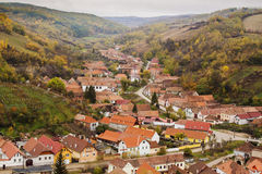 Fortified saxon village Stock Image