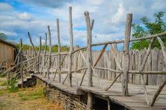 Fortified settlement Ukrainian Cossacks 16-18 centuries Stock Image