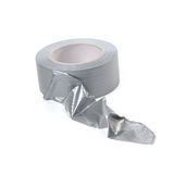 Fortified Silver Adhesive Tape Royalty Free Stock Photo