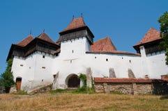 Fortified Temple. Fortified medieval temple in Viscri (Deutschweißkirch), Romania Royalty Free Stock Photos