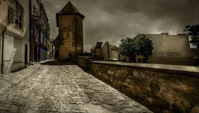 Fortified tower in Chojnice royalty free stock photo