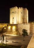 Fortified tower at Roman Bridge, Cordoba Royalty Free Stock Photo