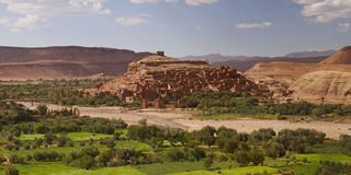 Fortified town of Ait ben Haddou Stock Images