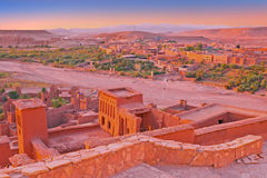 The fortified town of Ait ben Haddou near Ouarzazate Morocco Royalty Free Stock Photos