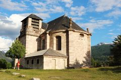 Church of Saint-Louis in Mont-Dauphin, France Stock Image