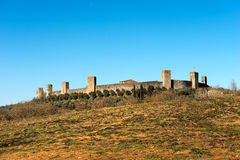 Fortified Town of Monteriggioni - Tuscany Italy Royalty Free Stock Photo