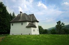Fortified villa in countryside Stock Photo