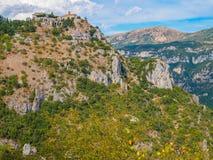Gourdon mountain village, France. Stock Photo