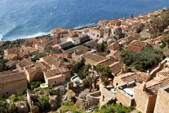 Fortified village of Monemvasia in Greece Royalty Free Stock Image