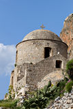 Fortified village of Monemvasia in Greece Stock Image