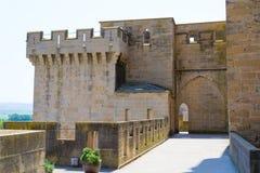 Fortified walkway in Olite Stock Image