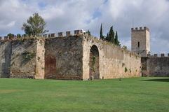 The fortified wall around Pisa Stock Images