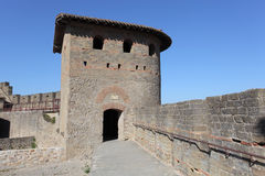 Fortified wall of Carcassonne Royalty Free Stock Photo
