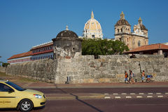 Fortified Wall of Cartagena Royalty Free Stock Photo