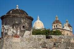 Fortified Wall of Cartagena Stock Photography