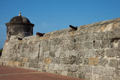 Fortified Wall of Cartagena Stock Images