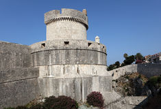 Fortified wall of Dubrovnik Stock Photos
