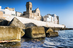 Fortified wall of  Monopoli old town. Italy. Stock Images
