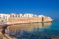 Fortified wall. Monopoli. Puglia. Italy. Royalty Free Stock Image