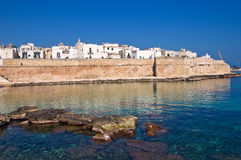 Fortified wall. Monopoli. Puglia. Italy. Royalty Free Stock Photography