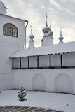 At the Fortified Wall of Pokrovsky Convent Before Snowfal Royalty Free Stock Images