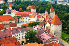Fortified wall in Tallinn Royalty Free Stock Images
