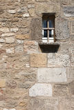Fortified Wall With Trellised Window Stock Image