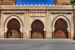 Fortified walls of Fes. Fortified walls surrounding the ancient city of Fes, Morocco Royalty Free Stock Photo