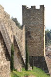 Fortified walls in Florence Royalty Free Stock Images