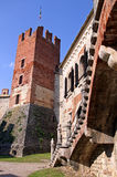 The fortified walls of an Italian castle Royalty Free Stock Photo