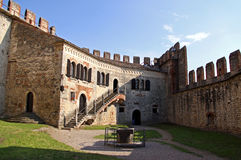 The fortified walls of an Italian castle Stock Image