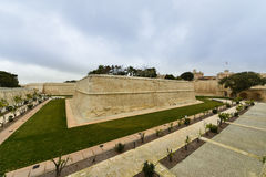 Fortified walls Mdina, Malta Royalty Free Stock Image