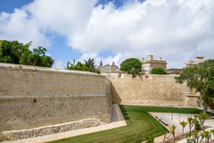 The fortified walls of Mdina - Mdina, Malta. The fortified walls of Mdina in Mdina, Malta Stock Images
