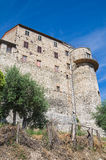 Fortified walls. Narni. Umbria. Italy. Perspective of the fortified walls. Narni. Umbria. Italy stock photography