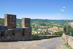 Fortified walls. Orvieto. Umbria. Italy. Royalty Free Stock Photo