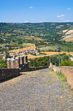 Fortified walls. Orvieto. Umbria. Italy. Stock Photography