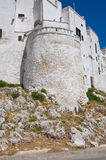 Fortified walls. Ostuni. Puglia. Italy. Royalty Free Stock Photography