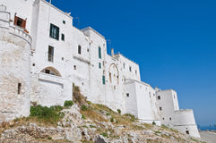 Fortified walls. Ostuni. Puglia. Italy. Royalty Free Stock Images
