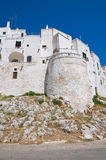 Fortified walls. Ostuni. Puglia. Italy. Royalty Free Stock Photos