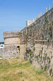 Fortified walls. Otranto. Puglia. Italy. Royalty Free Stock Photos
