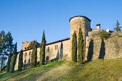 Fortified walls  Rivalta Castle - Piacenza -  Emilia Romagna reg Royalty Free Stock Image