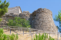 Fortified walls. Sant'Agata di Puglia. Italy. Royalty Free Stock Images